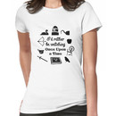 """""""I'd Rather Be Watching Once Upon a Time"""" Icon Design in Black Women's T-Shirt"""