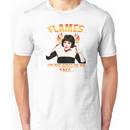 Clue Mrs White Flames Unisex T-Shirt