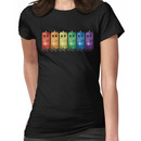 Rainbow Galaxy Tardis Women's T-Shirt