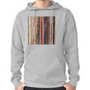 Vinyl Records Indie Rock  Hoodie (Pullover)