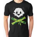 Panda and Crossbamboos (Dark) Unisex T-Shirt