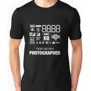 Camera settings Unisex T-Shirt