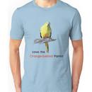 Orange-bellied Parrot products (light background colours) Unisex T-Shirt