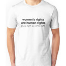 Hillary Clinton - Women's Rights are Human Rights Unisex T-Shirt