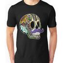 Mustache Sugar Skull (Color Version) Unisex T-Shirt