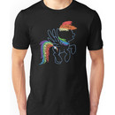 Sprayed Rainbow Dash Unisex T-Shirt