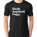 Hamilton - Eliza & Angelica & Peggy / Black Unisex T-Shirt