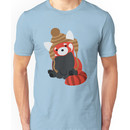Collin the Beanie-Wearing Red Panda Unisex T-Shirt
