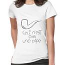 Ceci n'est pas une pipe (full) Women's T-Shirt