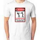 Warning! To avoid injury dont tell me how to do my job. (with keyboard) Unisex T-Shirt