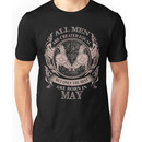 All men are created equal but only the best are born in May Gemini Unisex T-Shirt