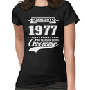 January 1977 40 Years Of Being Awesome Women's T-Shirt