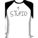 Green Day Stupid Baseball Tee Baseball  Sleeve