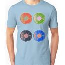 4 Pop Art Vinyl Records Unisex T-Shirt