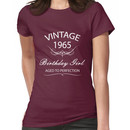 Vintage 1965 Birthday Girl Aged To Perfection Women's T-Shirt