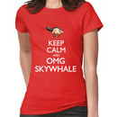 Keep Calm and OMG SKYWHALE Women's T-Shirt