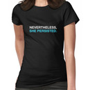 Nevertheless She Persisted - White - Blue Women's T-Shirt