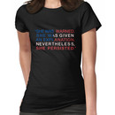 She Was Warned - Nevertheless She Persisted - Red White and Blue Women's T-Shirt