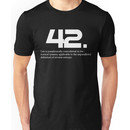 The meaning of life is 42 - Hitchhiker's Guide to the Galaxy Unisex T-Shirt