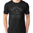 The Goonies - Never Say Die - Grey on Black Unisex T-Shirt