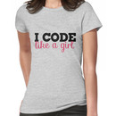 I CODE like a girl Women's T-Shirt