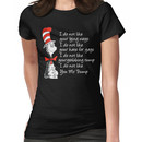 Cat in the hat hate Trump Women's T-Shirt