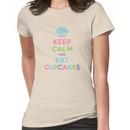 Keep Calm and Eat Cupcakes - beige Women's T-Shirt