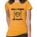 Don't worry, ski happy Women's T-Shirt