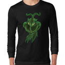 Inverted Grinch Christmas Drawing Long Sleeve