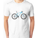 Typographical Anatomy of a Mountain Bike Unisex T-Shirt