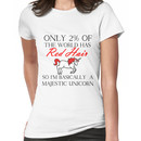 RED HAIR MAJESTIC UNICORN Women's T-Shirt