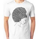 Afro Heart in Black Unisex T-Shirt