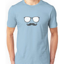 Sunglasses and Mustache Unisex T-Shirt