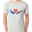 Whale Heart Submarine Unisex T-Shirt