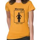 Warning: Talks math (skirt) Women's T-Shirt