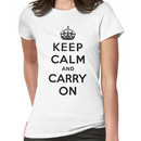 KEEP CALM AND CARRY ON (BLACK) Women's T-Shirt