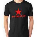 No Pasaran Red Star Slogan Unisex T-Shirt