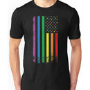 Rainbow American Flag Unisex T-Shirt