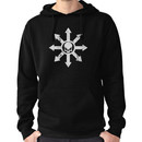 Mark of Chaos Distressed White Hoodie (Pullover)
