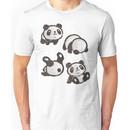 Rolling panda Unisex T-Shirt