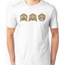 Monkey Emoji - See No Evil, Hear No Evil, Speak No Evil Unisex T-Shirt