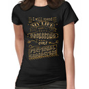 I will spend my life obsessing over fictional characters Women's T-Shirt
