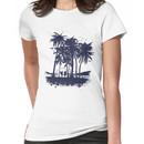 Palm Sunset - Hand drawn Women's T-Shirt