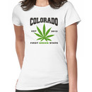 Marijuana Colorado First Green State Est 2012 Women's T-Shirt