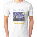 Vincent van Gogh, Starry Night.  Unisex T-Shirt