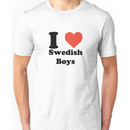 I love (heart) Swedish Boys Unisex T-Shirt