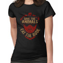 save the animals, EAT THE RUDE Women's T-Shirt