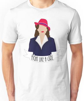 "P. Carter: ""Fight like a Girl."" Unisex T-Shirt"