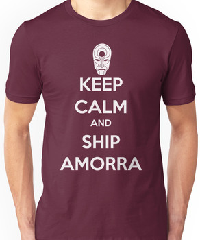 Keep Calm and Ship Amorra! Unisex T-Shirt