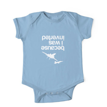"""""""""""Because I was inverted'', Top Gun inspired - WHITE VERSION Kids Clothes"""
